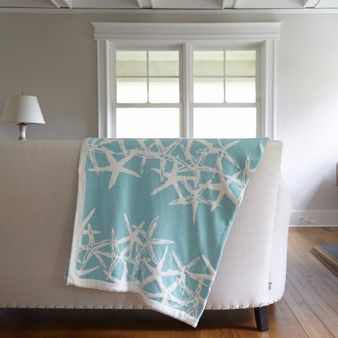 Tumbling Starfish Reverisble Throw