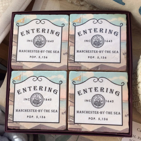 Entering Manchester Coasters Set of 4