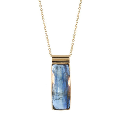 Faceted Vertical Kyanite Necklace