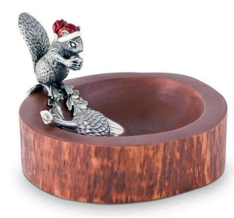 Santa Squirrel Nut Bowl & Scoop