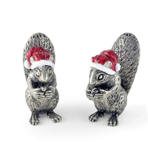 Santa Squirrel with Salt & Pepper Shakers