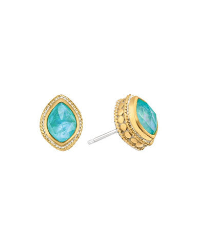 Turquoise Almond Stud Earrings