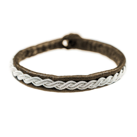 Pewter & Leather Bracelet, Jazz