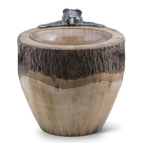 Natural Log Bear Ice Bucket