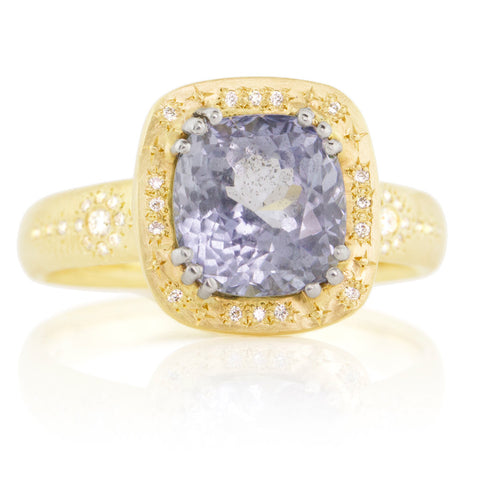 Adel Chefridi Shimmer Cushion Sapphire Ring