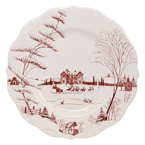 Juliska Country Estate Ruby Scallop Dinner Plate