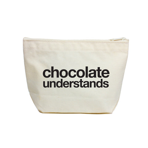 Chocolate Understands Zippered Pouch