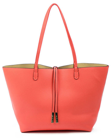 The Essential 3-in-1 Tote - Coral/Beige