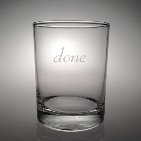 done Double Old Fashioned Glasses - Set of 4