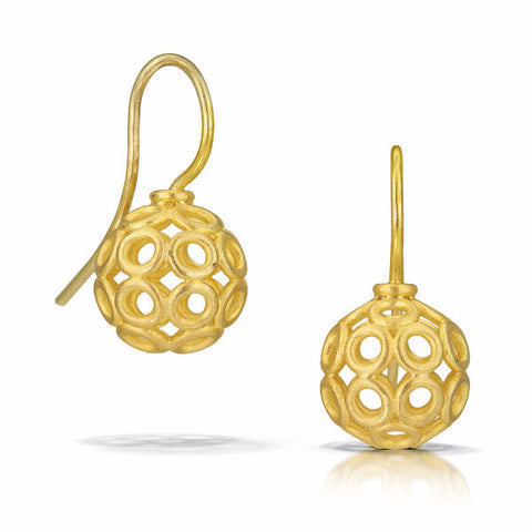 Denise Betesh Golden Circle Earrings