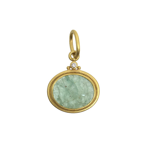 Denise Betesh Rose Cut Emerald Pendant