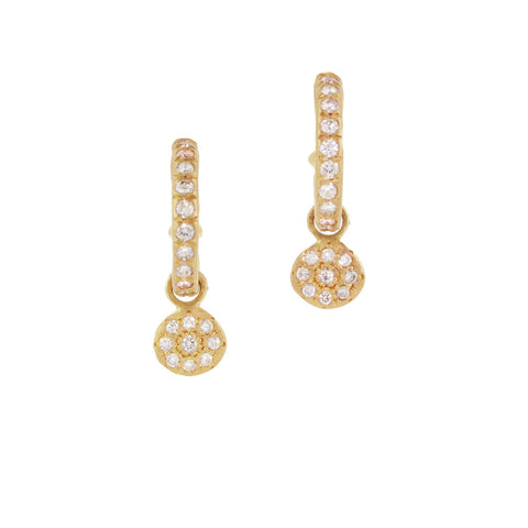 Adel Chefridi Diamond Hoops with Charms