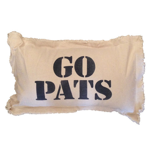 Go Pats Canvas Pillow