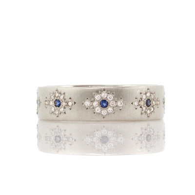 Adel Chefridi Diamond and Sapphire Shimmer Band