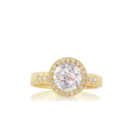 Adel Chefridi Large Diamond Floret Ring