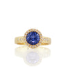 Adel Chefridi Diamond and Sapphire Floret Ring