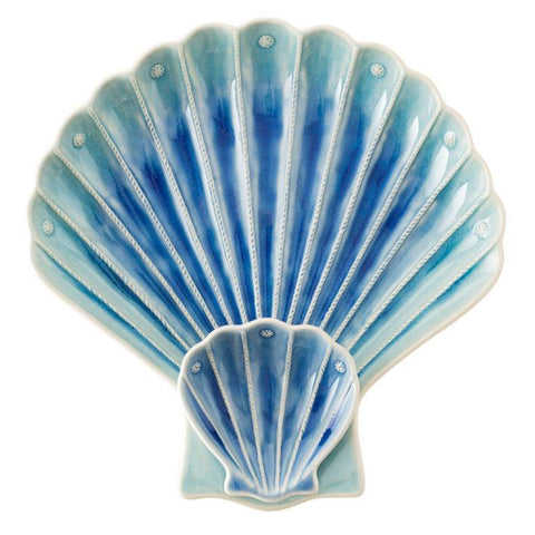 Juliska Shell Appetizer Server, Delft Ombre
