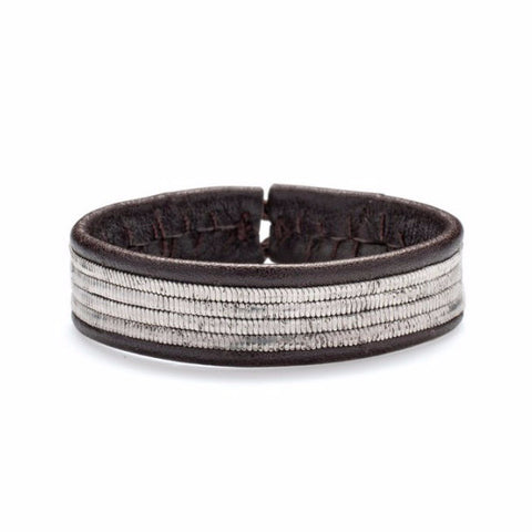 Pewter & Leather Bracelet, Line