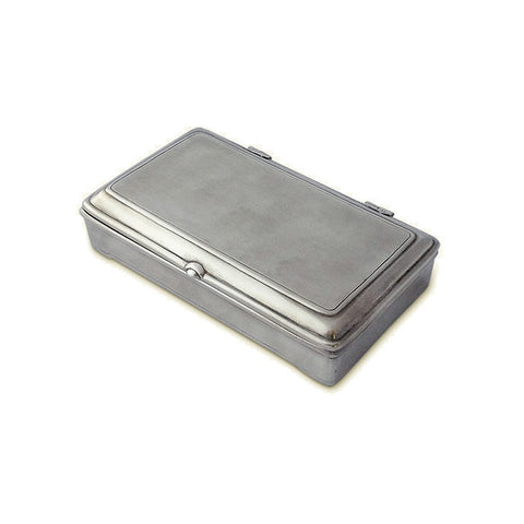 Match Rectangular Lidded Box with Leather Insert