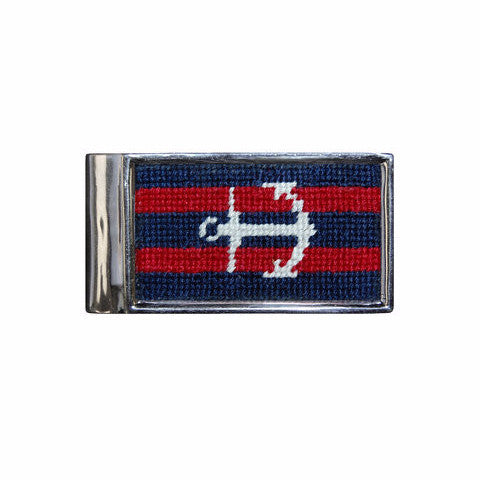 Smathers & Branson Striped Anchor Needlepoint Money Clip