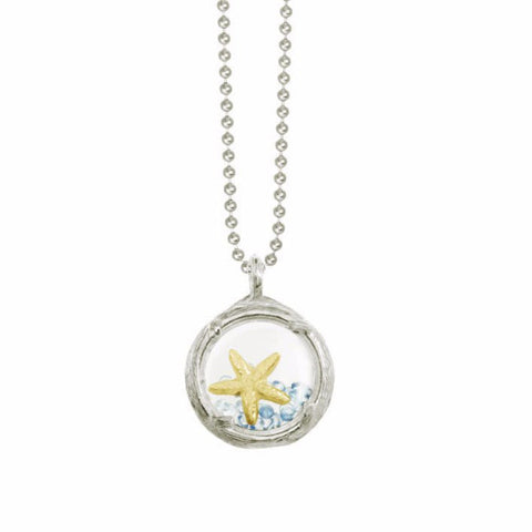 Mini Starfish Shaker Necklace