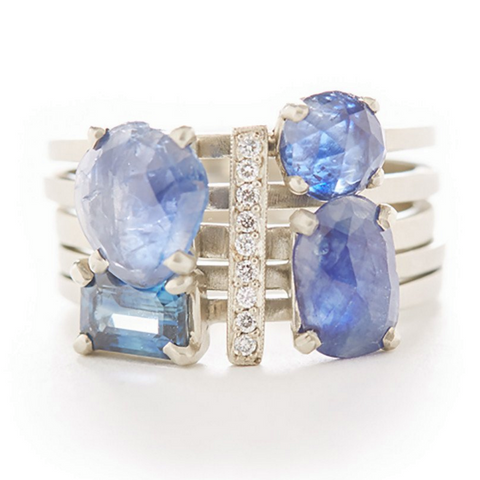 "Jennifer Dawes ""The Oceanographer"" Ring Stack"