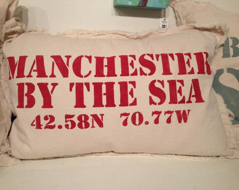 Manchester by the Sea Canvas Pillow