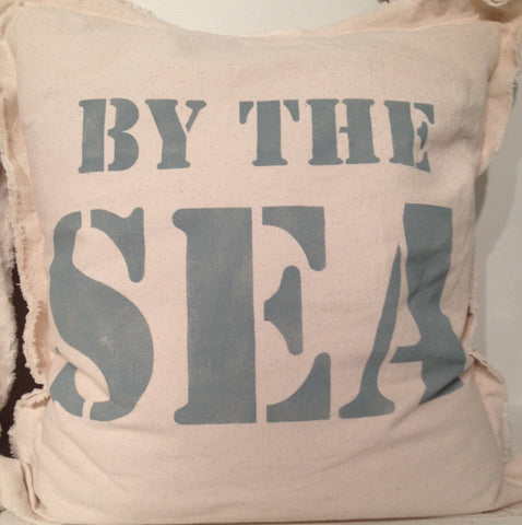By the Sea Canvas Pillow