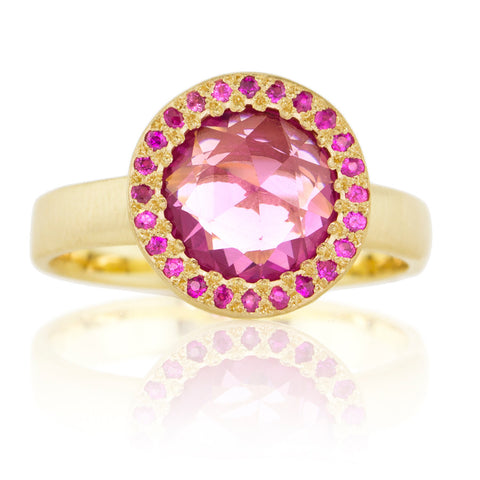 Adel Chefridi Rosecut Pink Sapphire Ring
