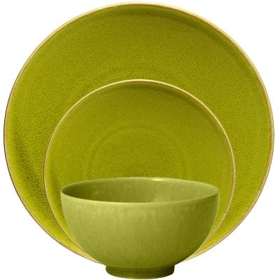 Jars Tourron 3 Piece Place Setting, Avocado