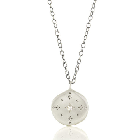Adel Chefridi New Moon Pendant Necklace