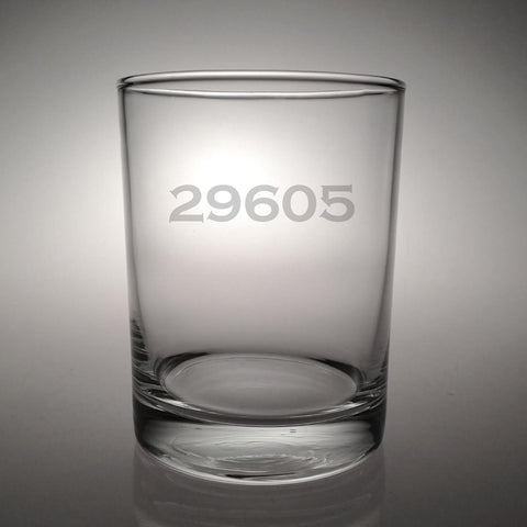 Personalized Zip Code Double Old Fashioned Glasses - Set of 4
