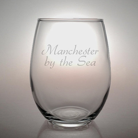 Manchester by the Sea Stemless Wine Glass