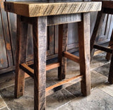 Reclaimed Oak Stools