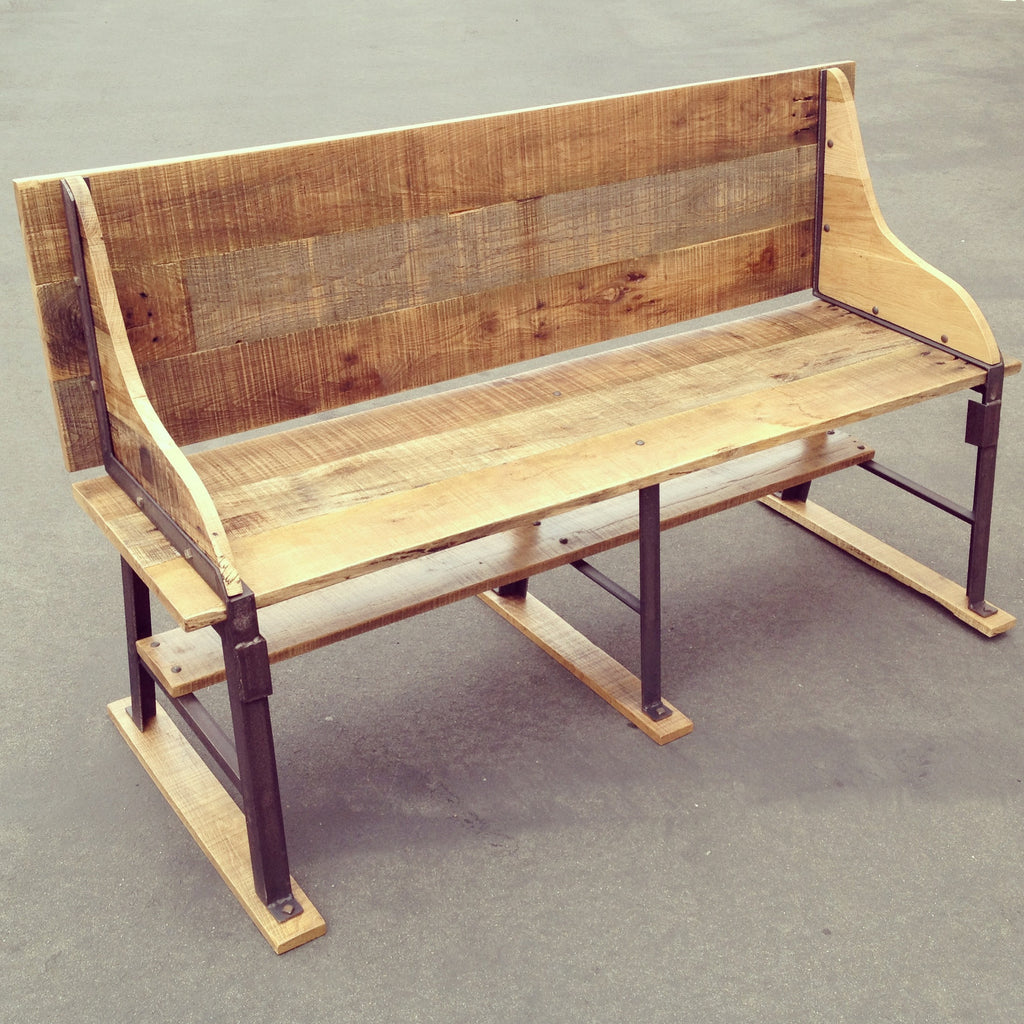 Reclaimed Oak and Industrial Bench