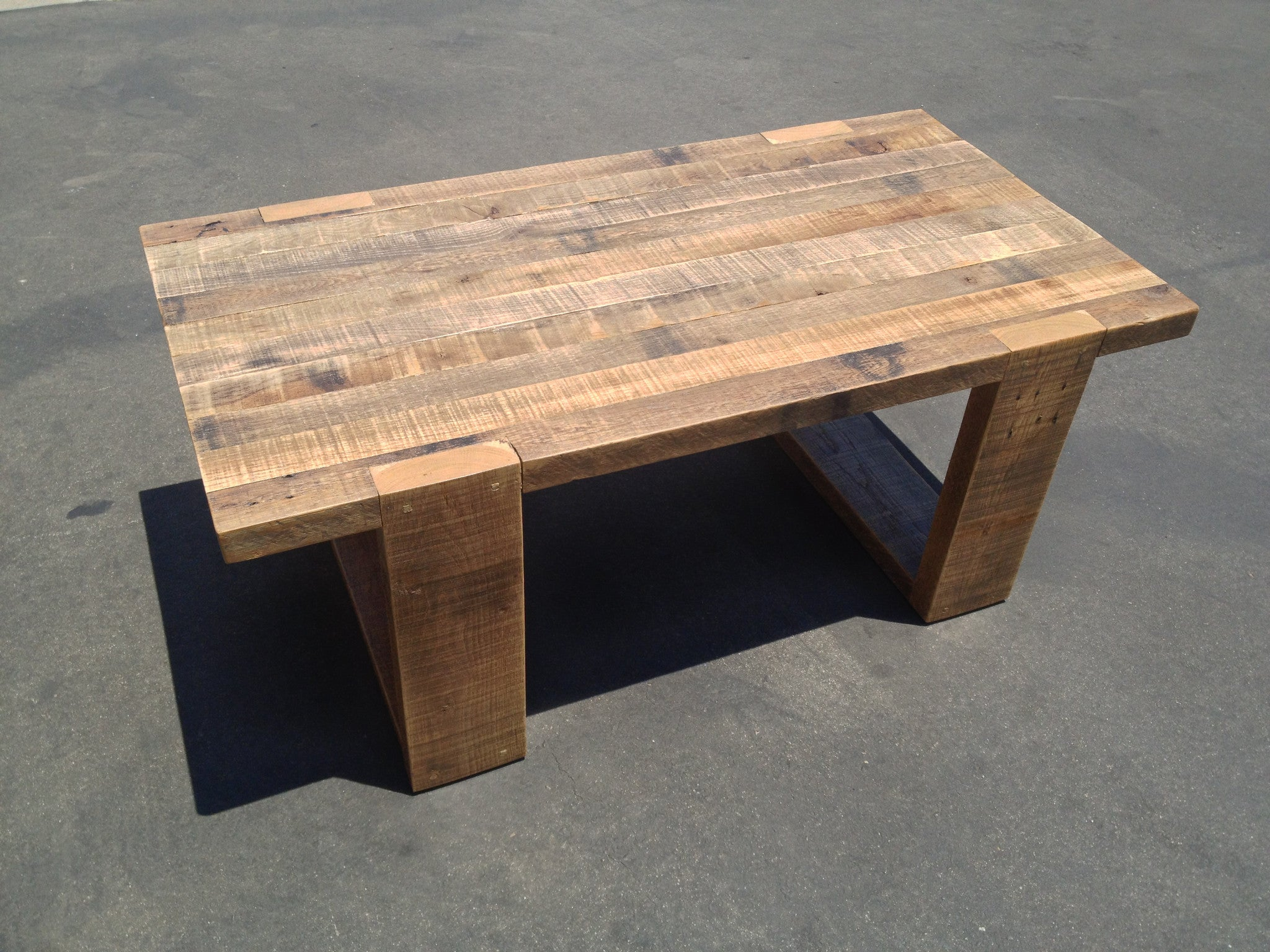 Reclaimed Oak Coffee Table – Heirlooms and Hardware