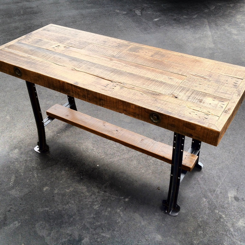 Reclaimed Oak Counter Height Table Heirlooms And Hardware