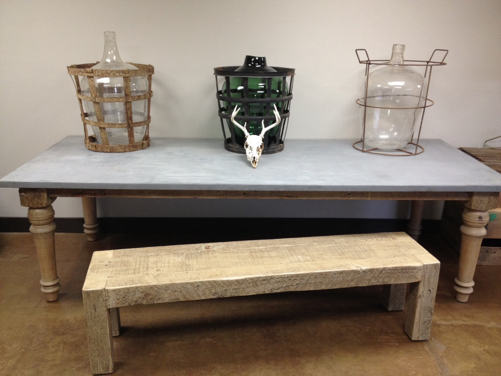 The Zinc Farmhouse Table