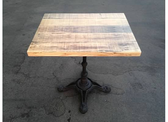 Decorative Cast Iron Base with Oak Top