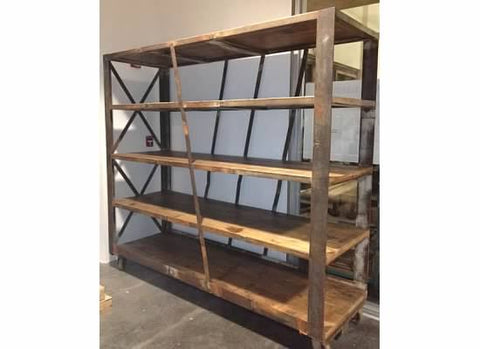 Reclaimed oak rolling rack