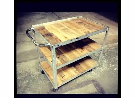 The 3 Layer Cart with Reclaimed Oak