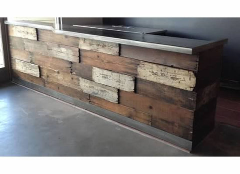 Handcrafted Crate Bar with Steel Top