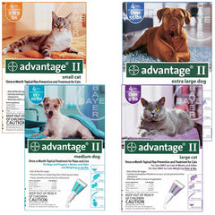 Advantage II Flea Control for Cats or Dogs - 4 Pack