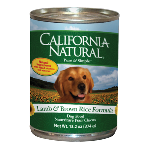 California Natural Lamb & Rice Dog Food - Case of 12 Cans