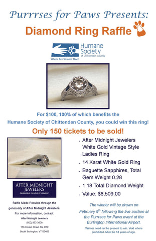 Purrrses for Paws 2017: Diamond Ring Raffle Ticket