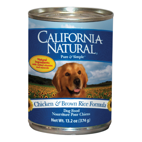 California Natural Chicken & Rice Dog Food - Case of 12 Cans