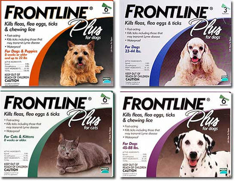 Frontline Plus Flea & Tick Control for Dogs or Cats
