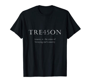 Anti-Trump Treason | TRE45ON Distressed Impeach T-Shirt