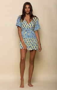 SUNLIT DAZE SHORT WRAP DRESS