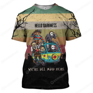 3D Full-Print We Are All Mad Here Apparel